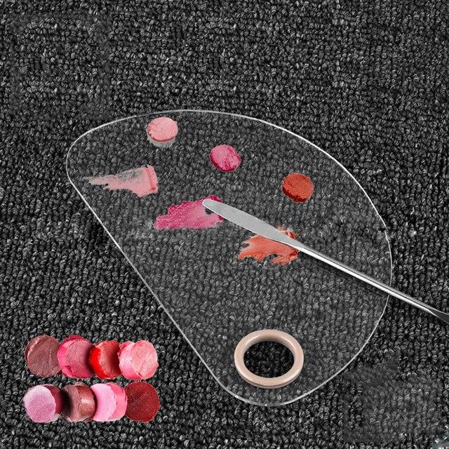 1 piezas paleta de sombra de ojos de vacío corrector Fundación polvo Pan Herramienta de mezcla hacer paletas de Color maquillaje cosmético espátula sartenes