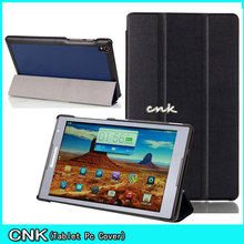 """3-Folder Magnetic Closure Custer Stand PU Leather Skin Sleeve Cover Case For Lenovo Tab S8-50 S8 50 S8-50F S8-50LC 8"""" Tablet"""