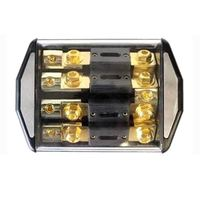 1PC 1 IN 4 ways OUT Car Audio Power Insurance Seat 140x103x40mm Fuse Box with 100A Fork Bolt Fuses
