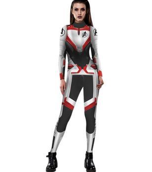 Los Vengadores 4 Endgame Zentai mono disfraz Cosplay Viuda Negra capitán Marvel mujeres disfraz superhéroe mono general