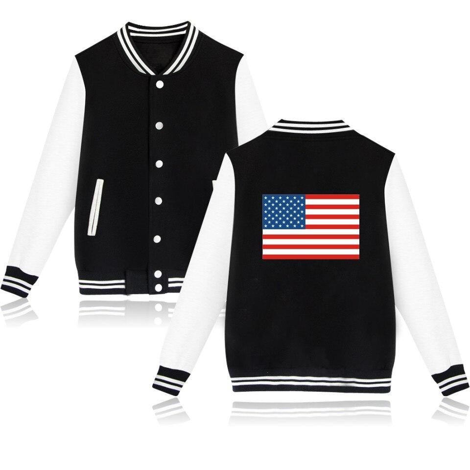 The United States Winter Baseball Jacket Men Sweatshirt Russian Capless Women  Hoodies Sweatshirts Plus 4XL Size