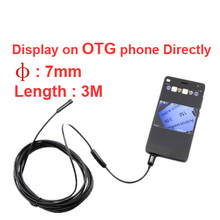 For Russia 3 meter length 7mm diameter endoscope camera checking camera OTG android endoscope Video Surveillance