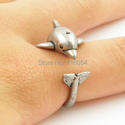 Dolphin Animal Wrap Ring - Silver.jpg