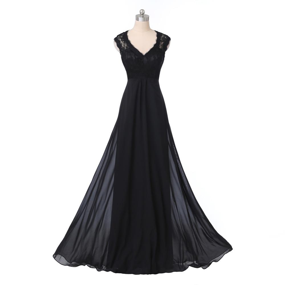 Size 6 black cocktail dress long chiffon