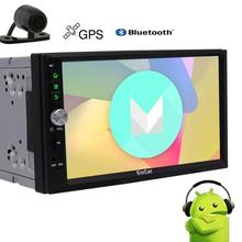 Android 7.1 Car Stereo+Rearview Camera 7'' Double Din Car Video Player Autoradio Bluetooth GPS Car PC Quad core CPU Head Unit