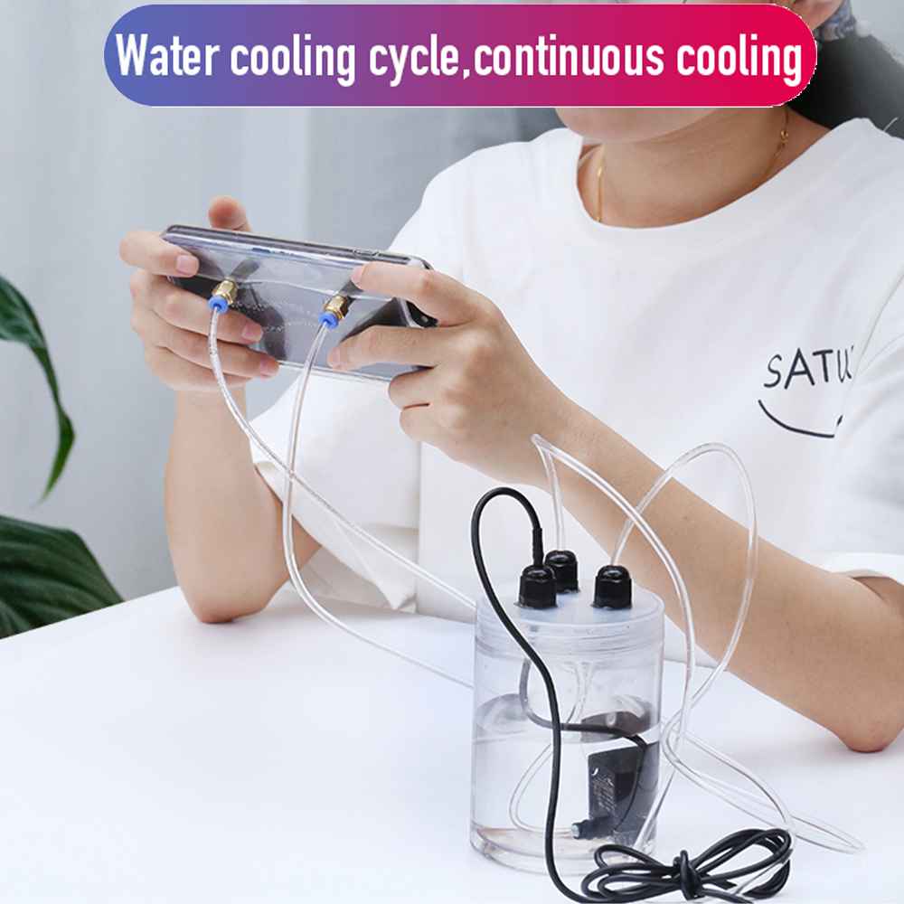 IPhone Cooler Fans Water Cooling Smartphone Radiator Pubg Gamepad Trigger Mobile Cooler Fan Case For IPone 6 7 8 Plus XS XR
