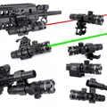 WIPSON חדש טקטי מחוץ Cree ירוק אדום דוט לייזר Sight מתכוונן מתג רובה עם רכבת הר עבור אקדח ציד