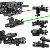 WIPSON nouveau tactique extérieur Cree vert point rouge visée Laser réglable interrupteur portée de fusil avec support de Rail pour la chasse au pistolet
