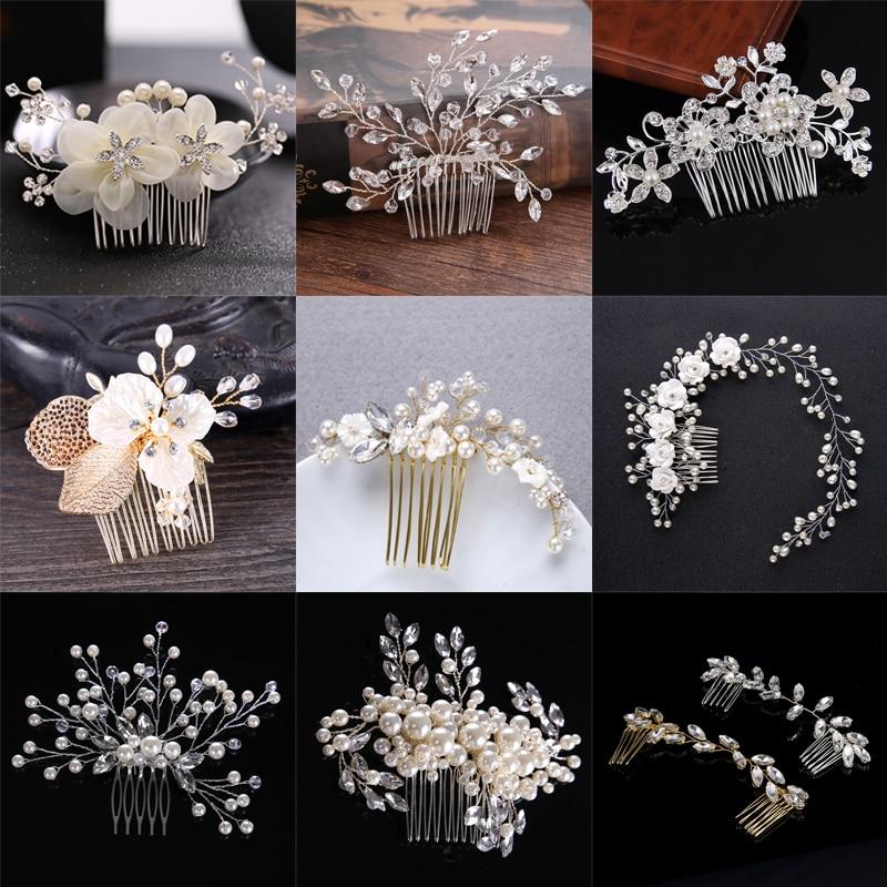 Bridal Headwear, Pearl Hair Comb Wedding Bride Ornament Accessories Hot Selling Headwear In Europe And America