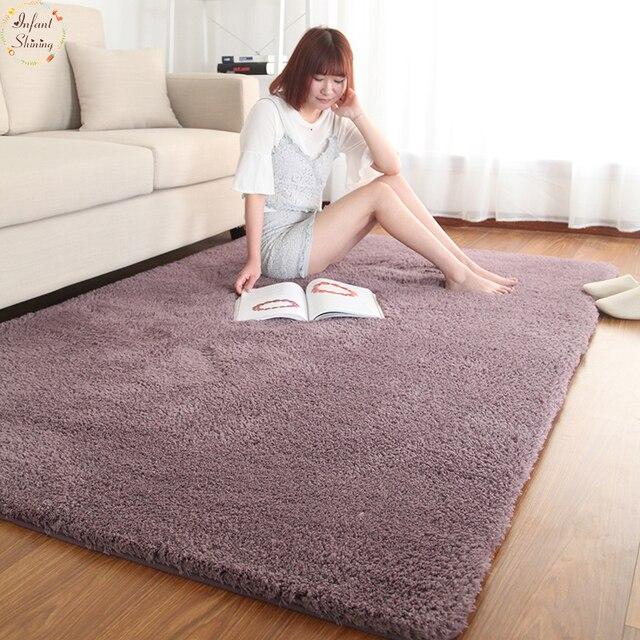 Infant Shining Living Room Carpet Modern Simple Bedroom Full Floor Coffee  Table Carpet Home Tatami Carpet