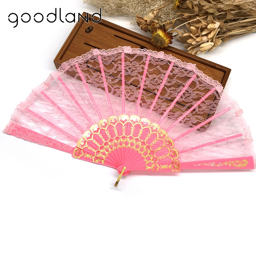 Free Shipping 30pcs Spanish Victorian Hand Fan Fabric Floral Floral ...