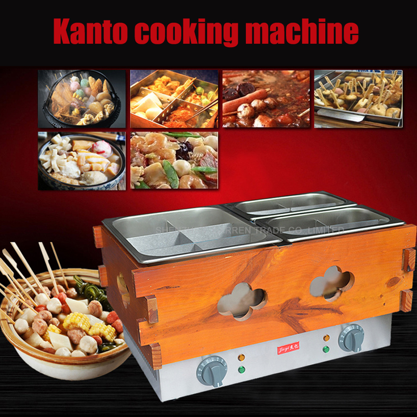 1PC  Commercial 3 cylinder 14 frames Electric kanto cooking machine Snack equipment cooking pot  oden machine110V/220V