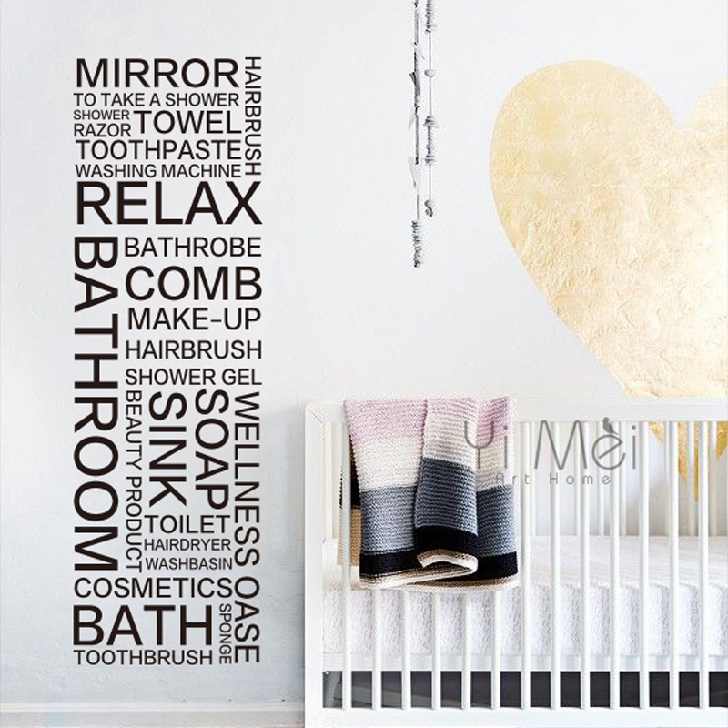 Classic Wall Decal Bathroom Mirror Toilet Make Up Sticker Mural Wallpaper Home Decoration Vinyl Quotes Letters Words 45x150cm In Stickers From