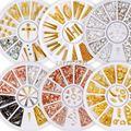 Разноцветные металлические гвоздики из розового золота в оправе, украшения из сплава для ногтей, стразы, наконечники для рукоделия