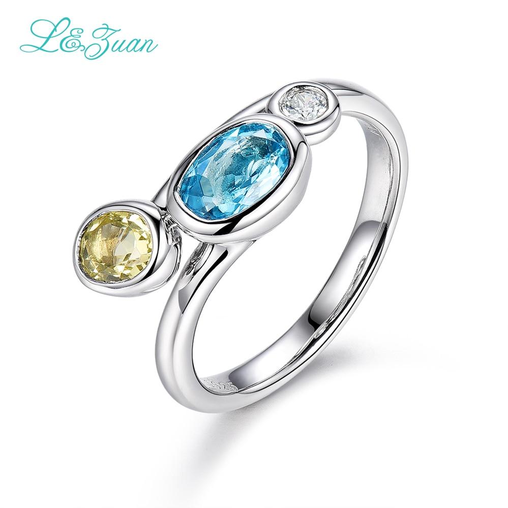 I & Zuan 925 sterling zilveren sieradenringen voor vrouwen Kleurrijke - Fijne sieraden