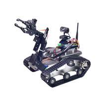 Xiao R DIY Smart Robot Wifi Video Control Tank with Camera Gimbal for Kids Children Adult Birthday Christmas Funny Gift Present(China)