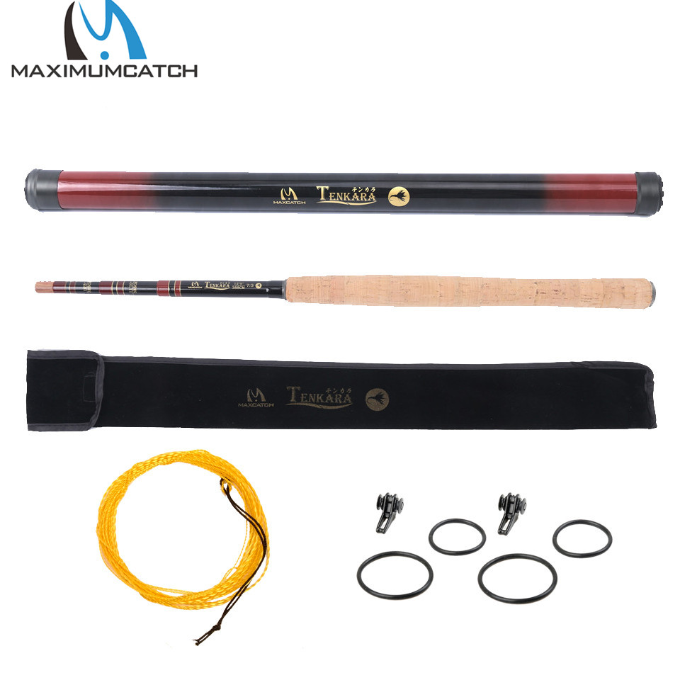 Maximumcatch 10ft/11ft/12ft/13ft Tenkara Fly Fishing Rod Multi-Size Telescopic Fly Rod&Tenkara Line&Hook Keepers Outfit maximumcatch classical tenkara fly fishing rod 10 11 12 13ft 7 3 action super light traditional tenkara rod with hook keepers