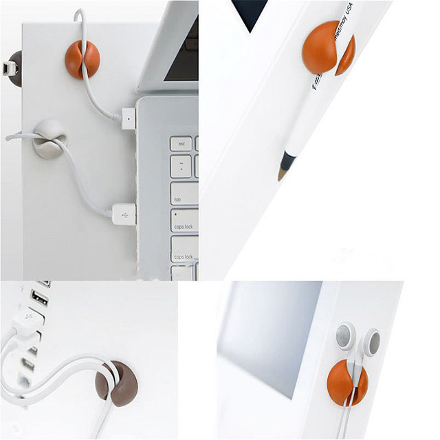 Office Solid Desk Wire Clips 5 pcs Set