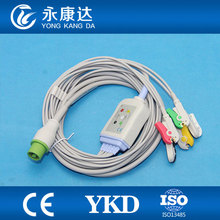 Ecg fukuda for Fukuda Denshi Dynascope DS-5100 5 lead ecg cable,IEC/Clip