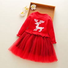style girls autumn dress children cardigan cartoon long sleeve princess dress kids bebe lace party vestidos недорго, оригинальная цена