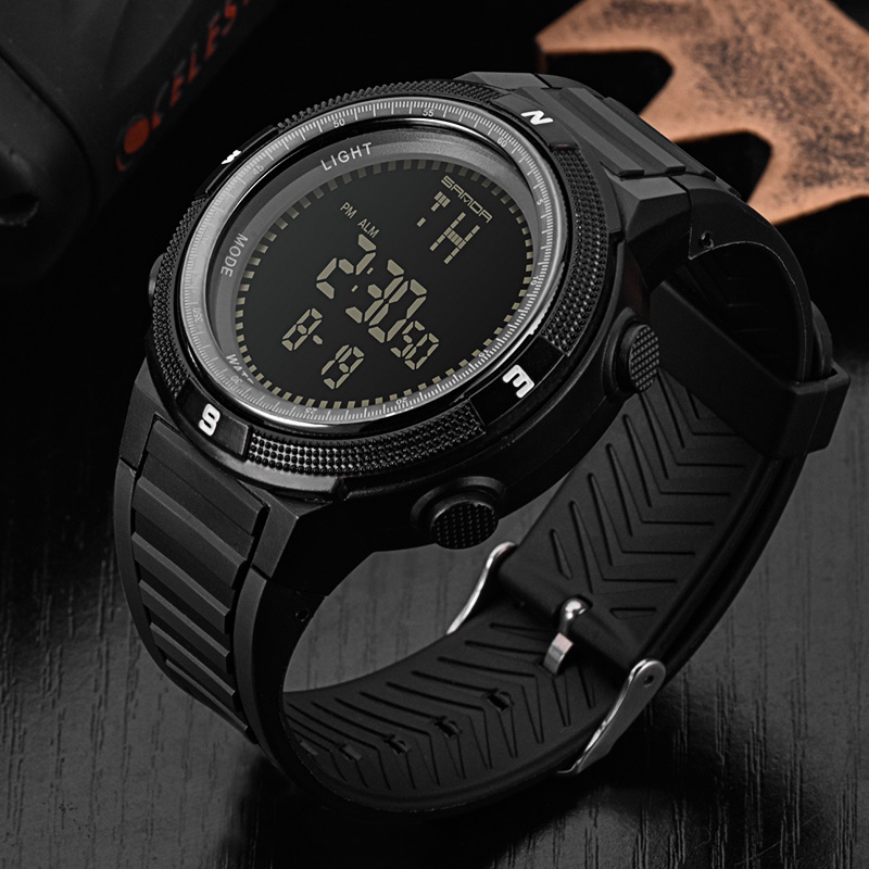 купить SANDA Military Sport Watch Men Top Brand Luxury Electronic Wristwatch LED Digital Wrist Watches For Male Clock Relogio Masculino недорого