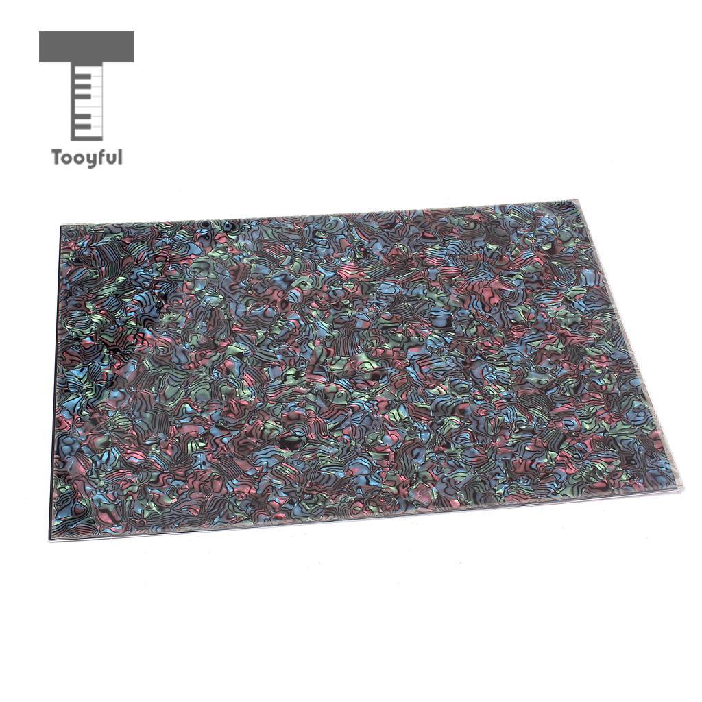 Tooyful PVC Plastic Abalone Shell Pickguard Inlay Shell