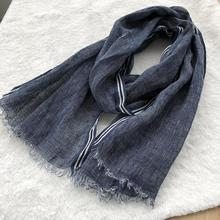spring summer autumn winter Scarf Cotton And Linen Solid Col