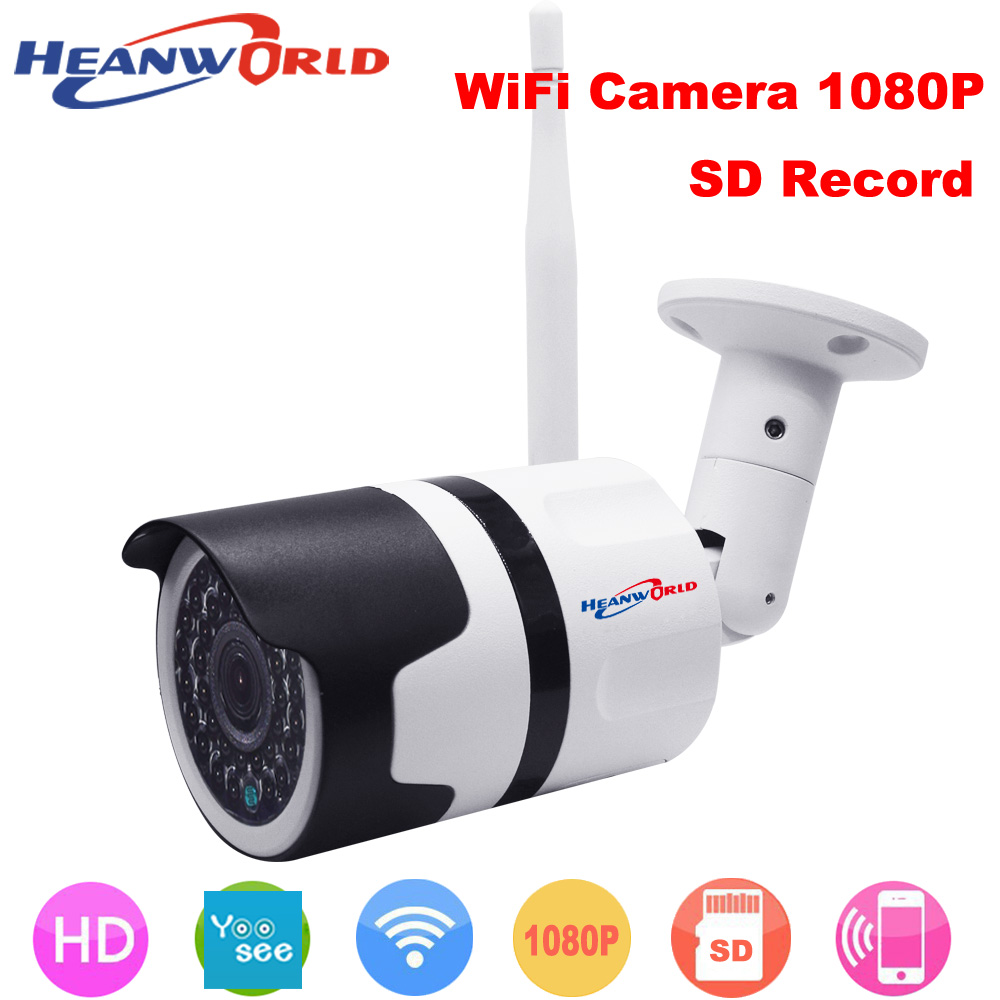 Heanworld 1080P wide angle view wifi camera full hd waterproof security ip camera  2mp bullet outdoor surveillance cctv camera pvt 898 5g 2 4g car wifi display dongle receiver airplay mirroring miracast dlna airsharing full hd 1080p hdmi tv sticks 3251