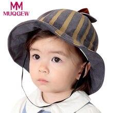 2018 bebé recién nacido sombrero niñas niños rayas hoja accesorios niños  sombreros sombrero casquette enfant 18 33239da964c
