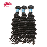 Ali Queen Hair Peruvian Natural Wave Hair Bundles 3 Piece Virgin Human Hair Weave 8 24 Inch Hair Extensions Natural Black