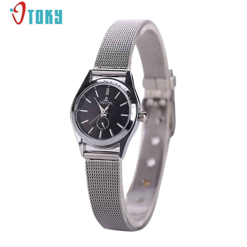 Excellent Quality New Brand Silver Casual Quartz Watch Women Metal Mesh Stainless Steel Dress Watches Relogio Feminino Jan 13