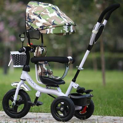 High quality Swivel seat child bike baby bicycle baby stroller car rubber titanium wheel tire inflation free for 1-5 yeas old