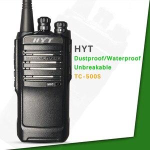 Image 2 - לhyt רדיו HYT TC 500S שתי דרך רדיו UHF 450 470MHz VHF 136 154MHz ווקי טוקי עמיד למים Dustproof נייד כף יד רדיו