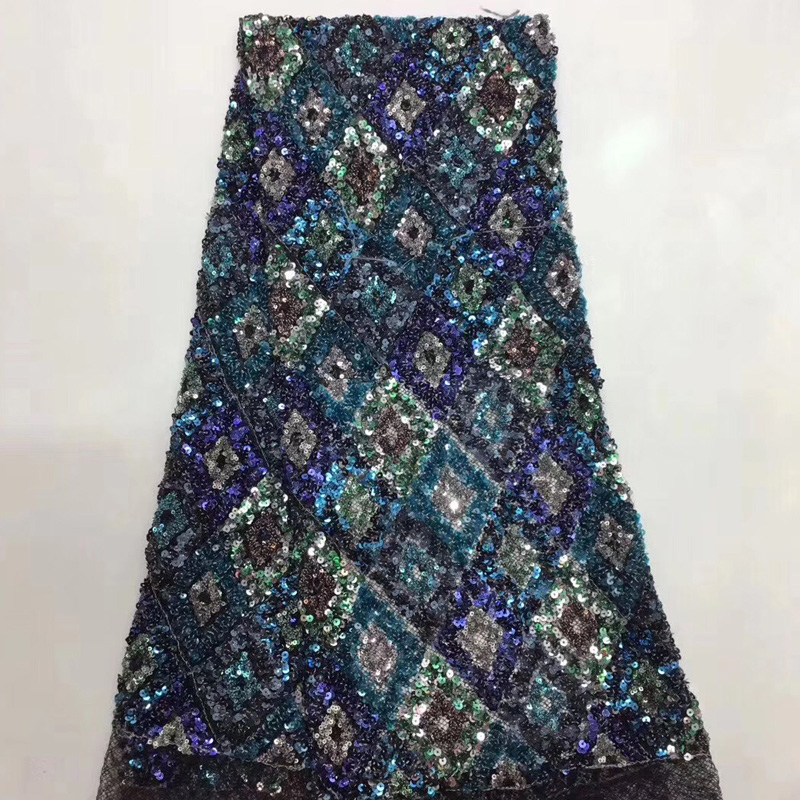 8 colors (5yards/pc) high quality African French net lace fabric shining colorful sequins lace 2019 new for party dress FZZ1458 colors (5yards/pc) high quality African French net lace fabric shining colorful sequins lace 2019 new for party dress FZZ145