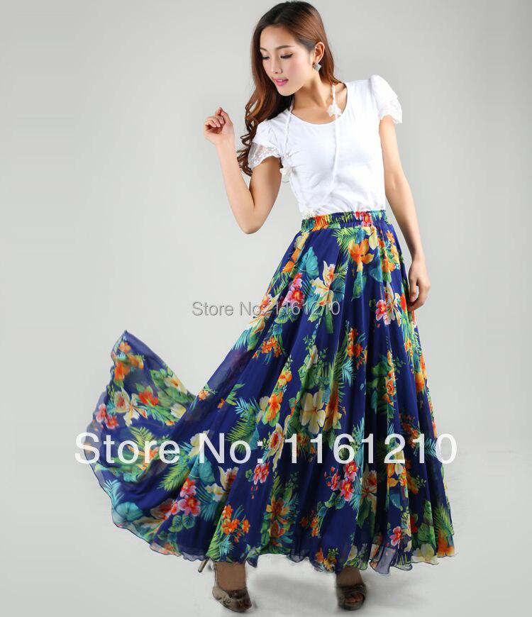 nuevas mujeres al por mayor de ropa de estilo bohemio maxi falda falda larga de