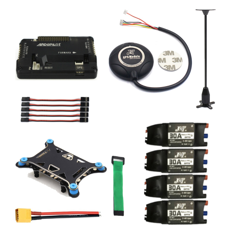 APM 2.8 Flight Controller 7M GPS Module Compass Shock Absorber 30A ESC for 4/6 Axis RC Hexacopter Quadcopter Drone 500-650mm drone upgraded apm2 6 mini apm pro flight controller neo 7n 7n gps power module