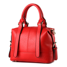 Women Top-handle Bag Shoulder Bags PU Leather Handbags Solid Tote retro Female Herald Fashion