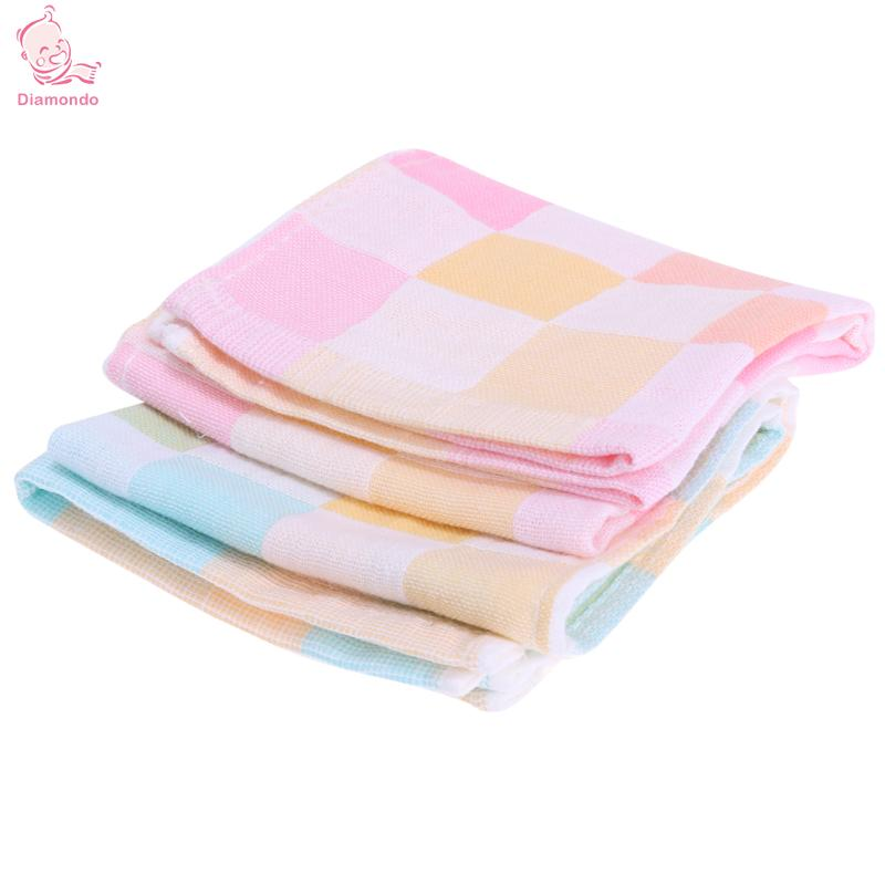 Double Layers Gauze Baby Feeding Bids Towel Cotton Baby Bibs Infant Plaid Towel For Newbron Bid Scarf Cloth for 0-12 years old