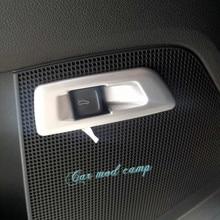 Левой руки вождения! Для Skoda kodiaq 2017-2018 ABS интерьер задний багажник ворота переключатель Крышка отделка 1 шт. автомобиль укладки аксессуаров!