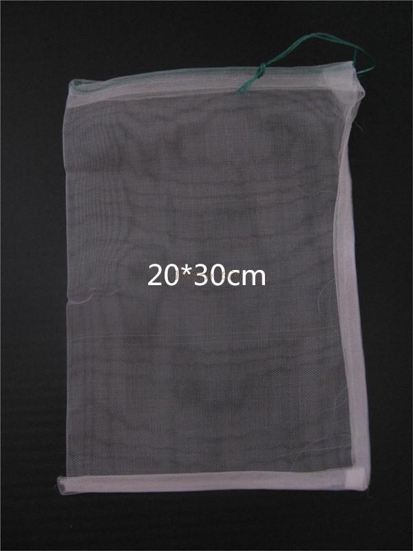 100pcs lot 20 30cm 40 Mesh Nylon bag Fish Fruit wristband bag Insect birds pest filter