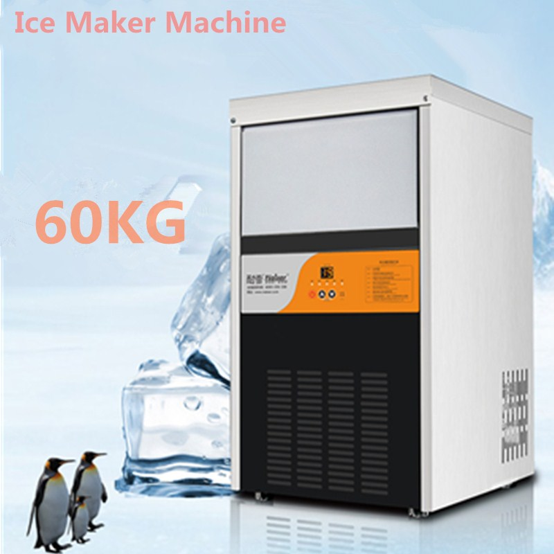 Hot Sale 60 kgs/24H Automatic Ice Maker, Ice Cube Family Making Machine For Commercial Use For Coffee Shop Bar 300W edtid new high quality small commercial ice machine household ice machine tea milk shop