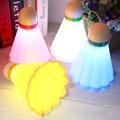 2017 Badminton Shape Novelty LED Night Light Room Light USB Rechargeable Lamp Decoration