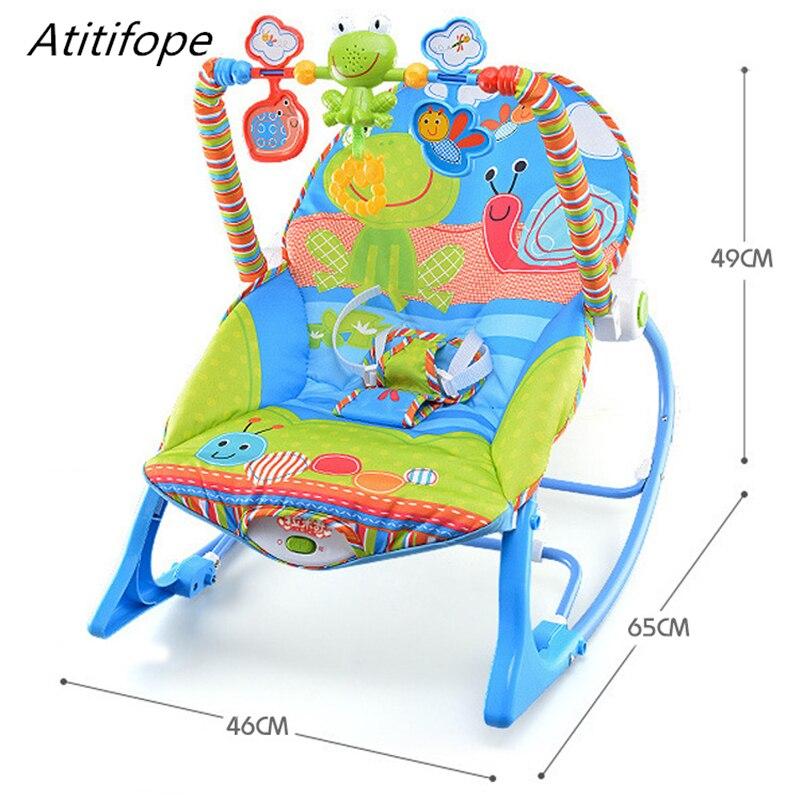 Bébé chaise à bascule multi-fonction bébé lit avec musique et balançoires bébé sommeil lit nouveau-né berceau siège Portable bébé chaise - 2