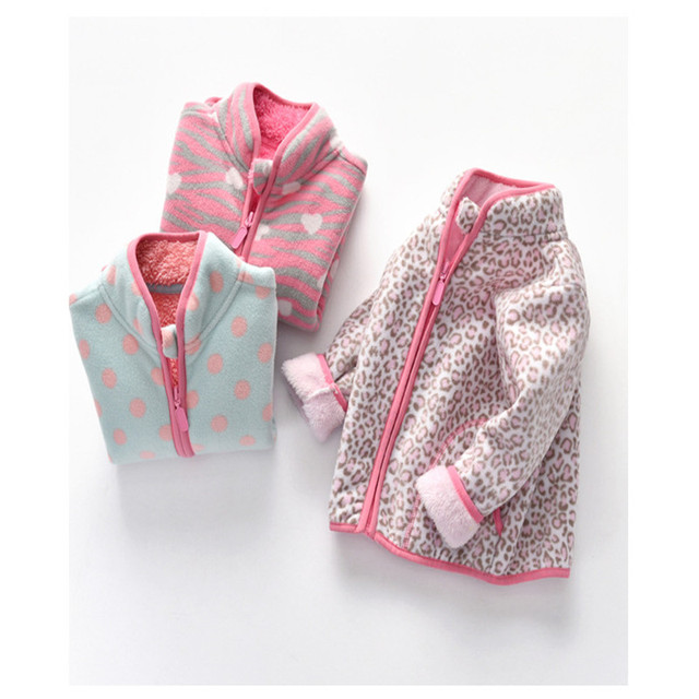 Autumn Winter Girls Jackets Fashion Lining Thick Fleece Warm Jakcet Coat Outerwear Kids Children Clothing Collar Kids Jackets