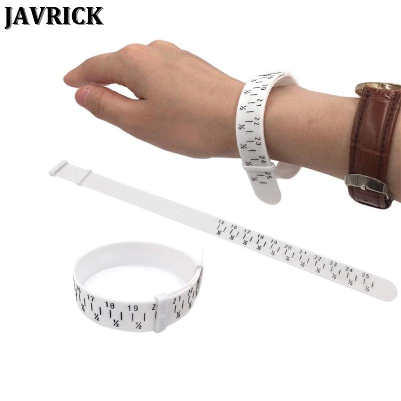 JAVRICK Bracelet Sizer Plastic Wristband Measuring Tool Bangle Jewelry Making Gauge Hand