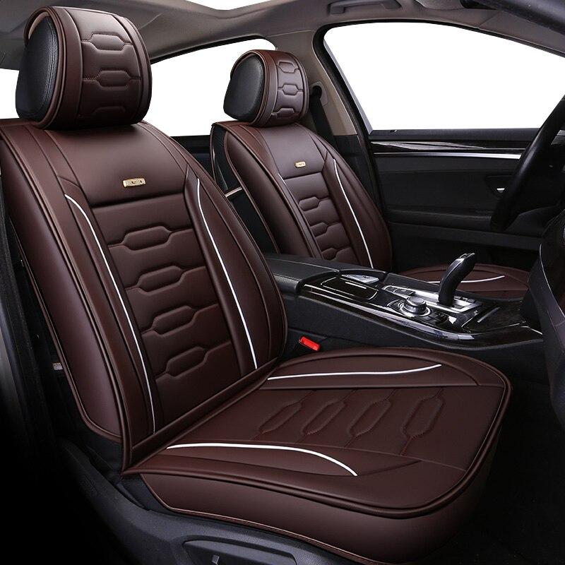 ユニバーサル pu レザーカーシートはフォードモンデオフォーカス 2 3 フィエスタモンデオ edge Explorer 牡牛座 S MAX 車アクセサリースタイリング  グループ上の 自動車 &バイク からの 自動車シートカバー の中 1