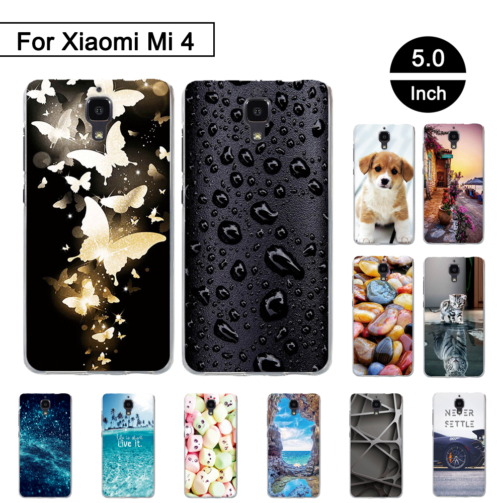 Silicone Case For Xiaomi Mi 4 Case Cover Phone Case For Xiaomi Mi 4 Cover Soft TPU bumper For Xiaomi Mi4 Painted Pattern Cover
