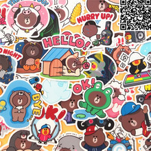 Хорошее 46 шт. мультфильм милый медведь Стикеры для Чемодан скейтборд Телефон ноутбука Moto Велосипедный Спорт стены Гитары Наклейки/DIY Скрапбукинг