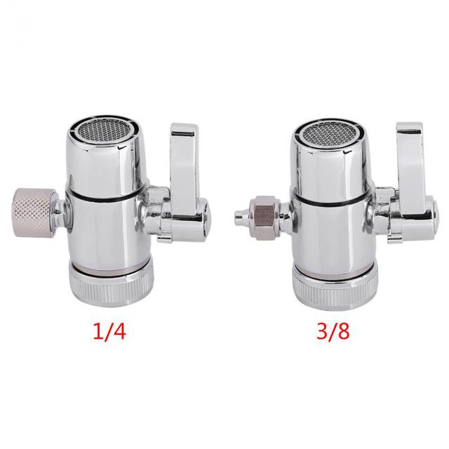 Superbe 1 Pcs Kitchen Faucet Adapter Diverter Valve Counter Top Water Filter 1/4  And 3/8 Inch Connector Household