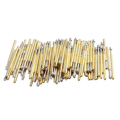 100 Pieces Serrated Tip Spring Testing Probes Pins 25mm Length  цены